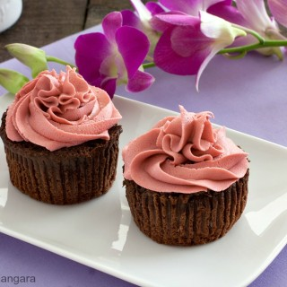 Orchid and Chocolate Cupcakes