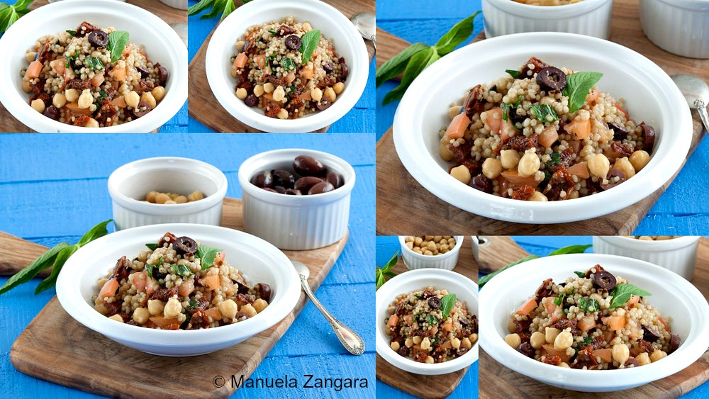Sun-dried Tomato and Chickpea Maftoul Salad