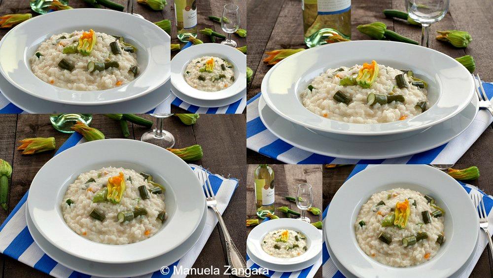 Zucchini Flower and Stracchino Risotto