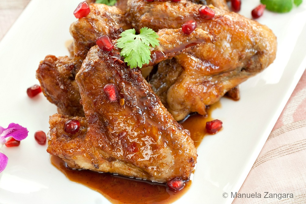 Pomegranate Chicken Wings