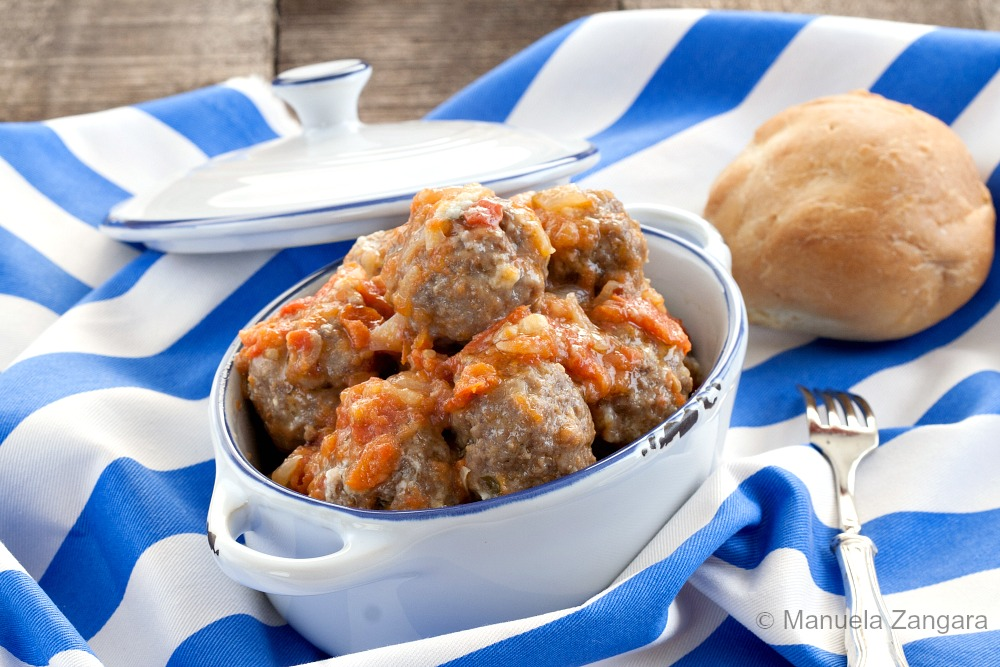 Meatballs in Tomato and Pecorino Romano Sauce