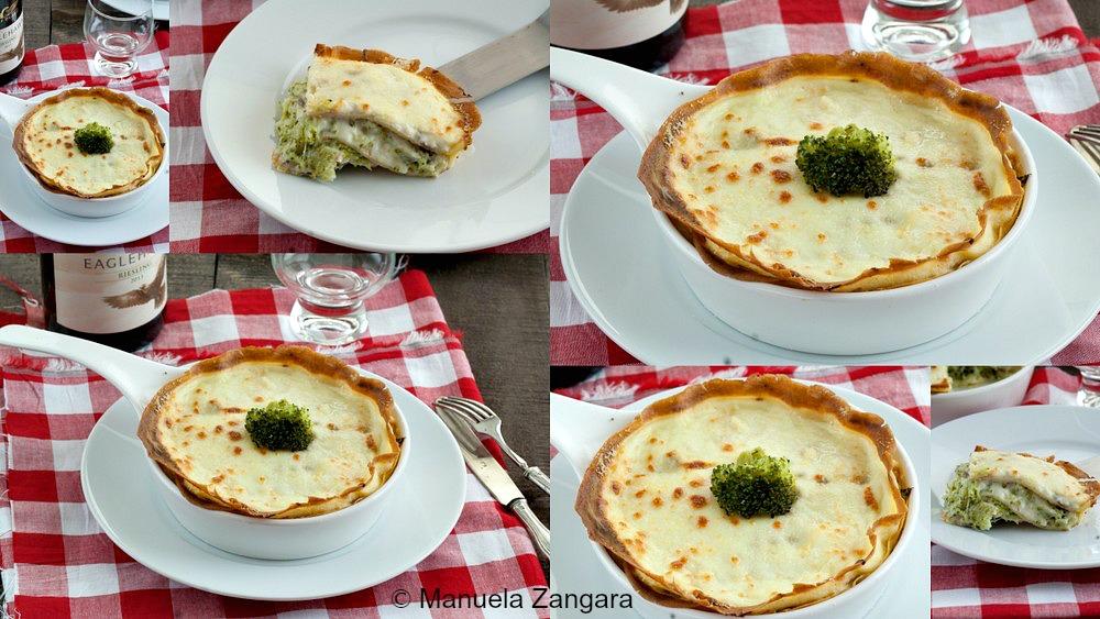 Crespelle Cake with Broccoli
