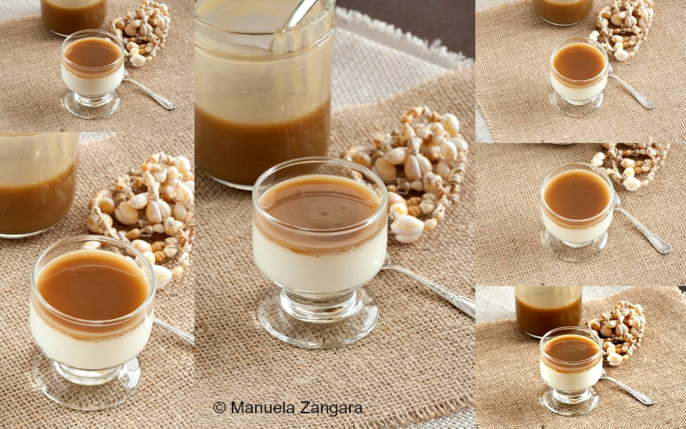 Coconut Panna Cotta with Coconut Caramel Sauce