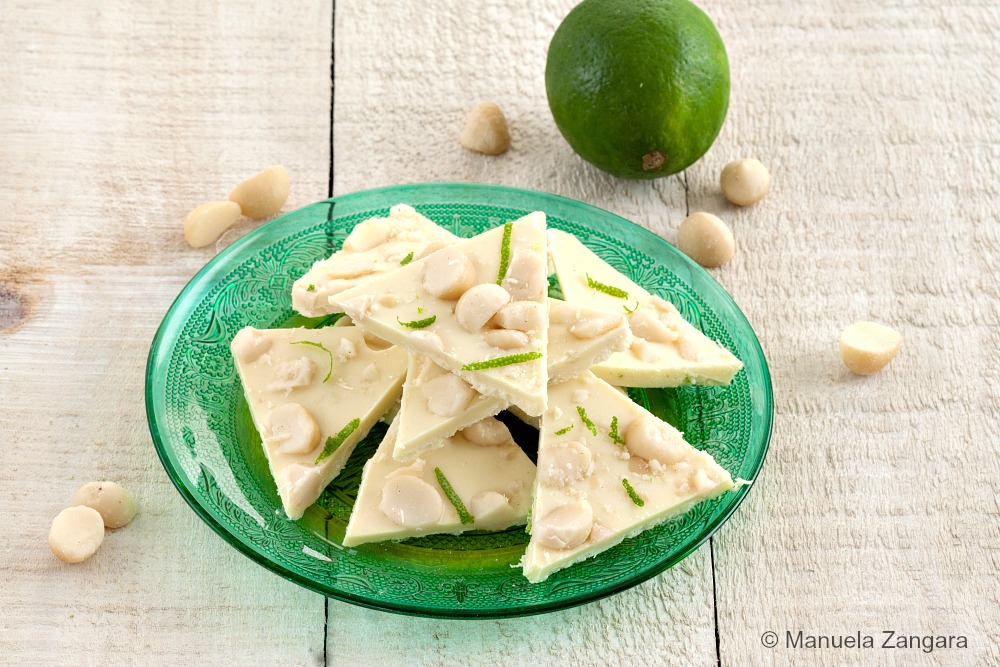 Lime and Macadamia Nut Bark