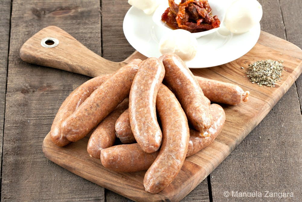 Mozzarella and Sun dried Tomato Pork Sausage