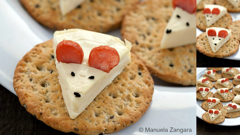 Cheese Mouse on a Cracker