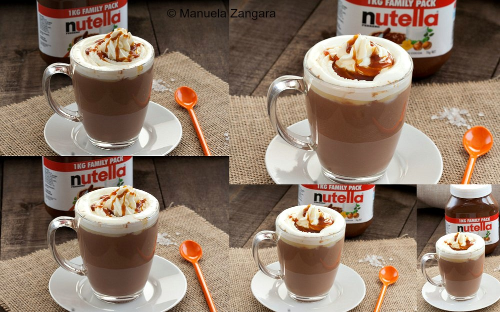 Salted Caramel Nutella Hot Chocolate