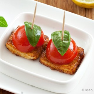 Cherry Tomato and Halloumi Bites