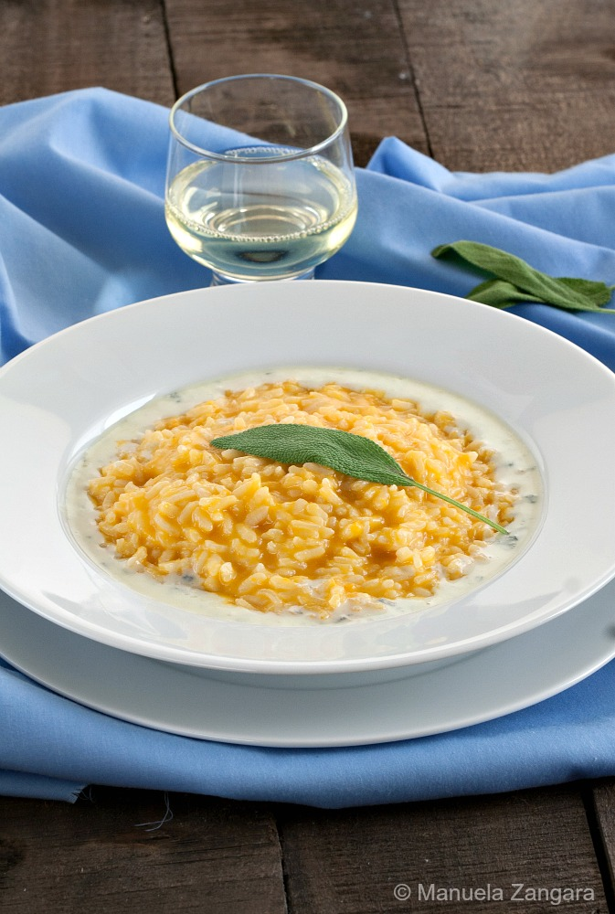 Pumpkin Risotto with Gorgonzola Sauce