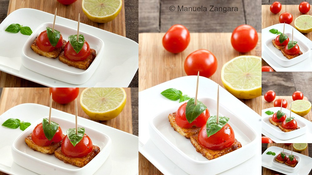 Cherry Tomato and Halloumi Bites