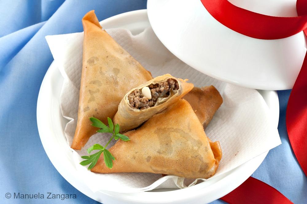 Moroccan Beef Kefta Briouat