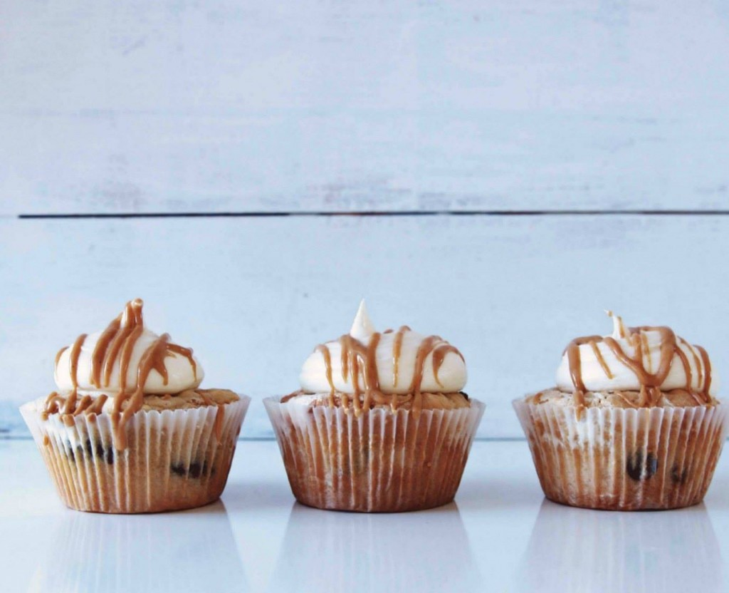 Peanut Butter Choc Chip Cupcakes with Marshmallow Buttercream