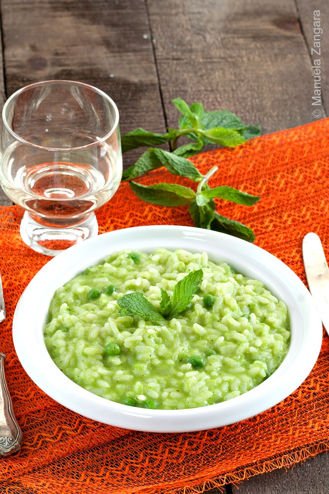 Cream of Pea and Mint Risotto
