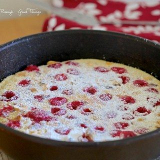 Raspberry Dutch Baby Pancake with HazelnutsRaspberry Dutch Baby Pancake with Hazelnuts
