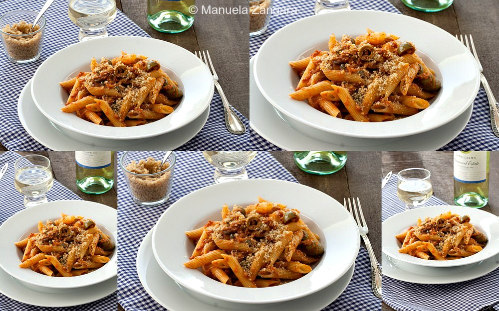 Tuna, Olive and Caper Pasta with Garlic Breadcrumbs