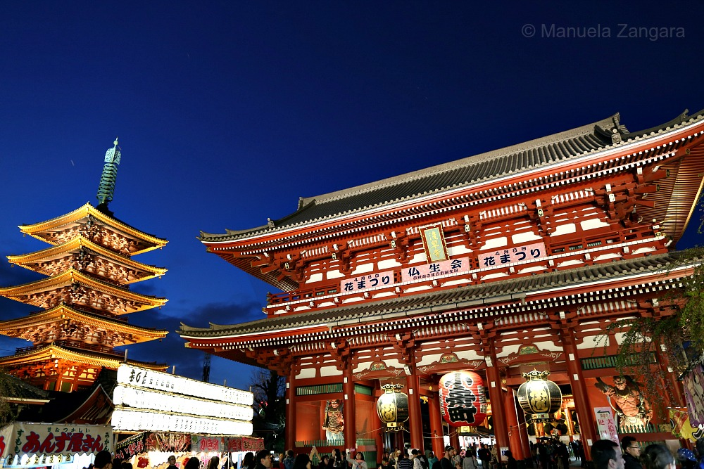 Sensoji by night