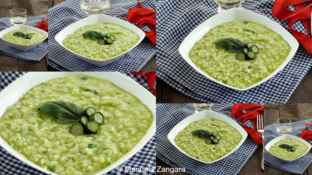 Risotto with Zucchini Cream and Basil