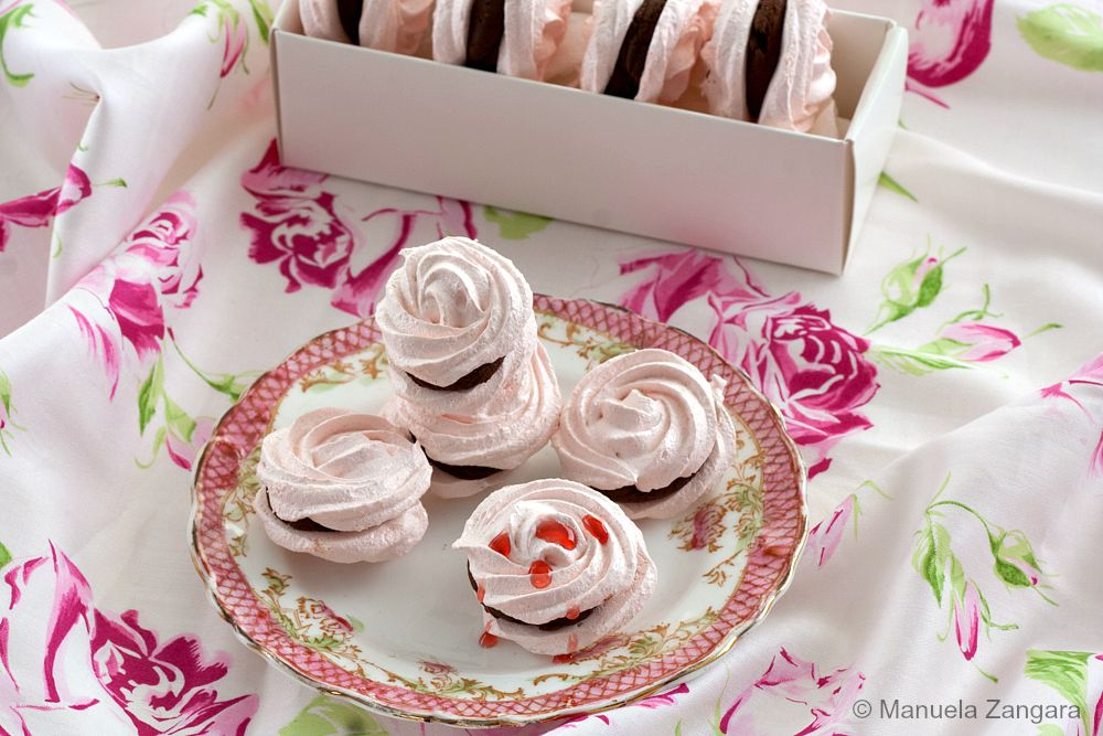 Rose Meringue Sandwiches