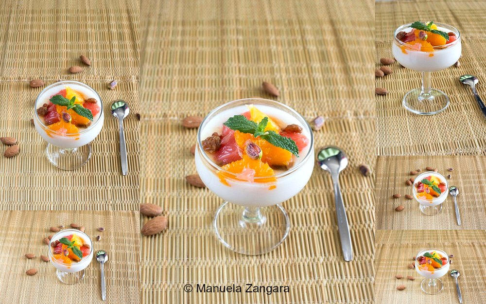 Biancomangiare with Citrus Salad