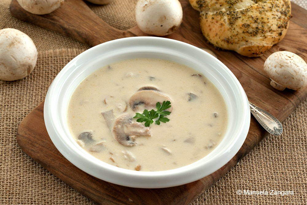 real mushroom soup with a touch of lemon | TasteInspired's Blog