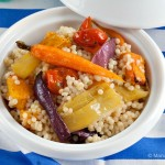 Warm Maftoul Salad with Roasted Vegetables