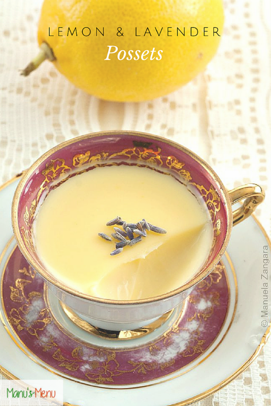 Lemon and Lavender Possets s