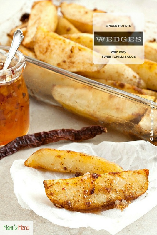 Spiced Potato Wedges with Easy Sweet Chilli Sauce