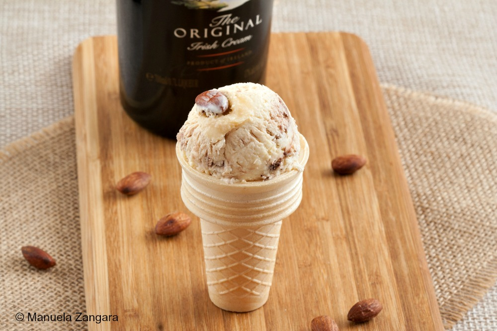 Baileys, Chocolate and Salted Almonds Ice Cream