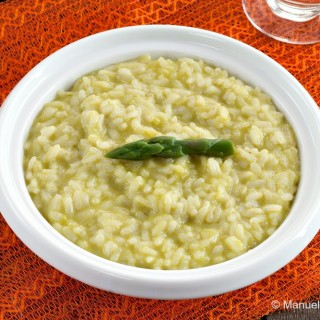 Cream of Asparagus and Spumante Risotto