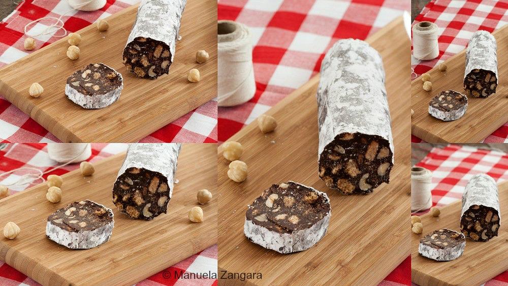 Eggless Chocolate Salami