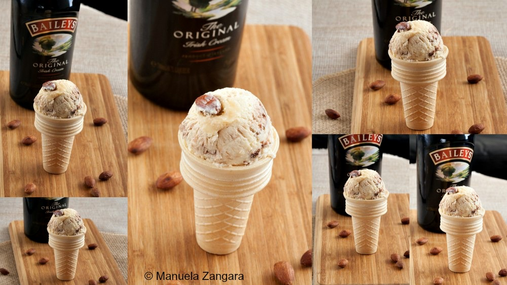 Baileys, Chocolate and Salted Almond Ice Cream
