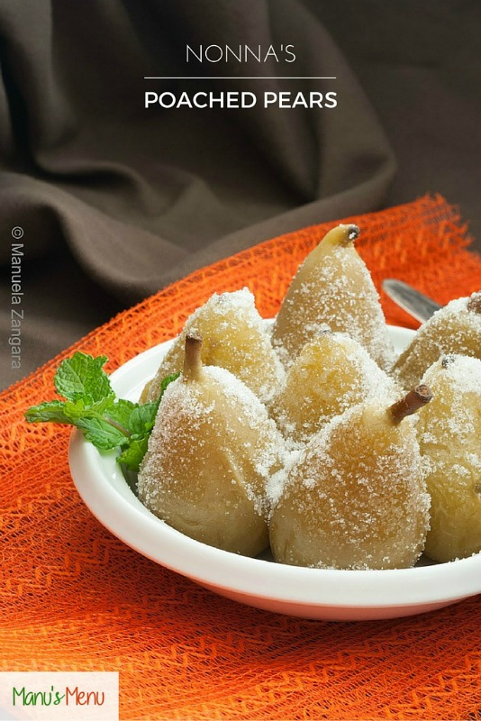 Nonna's Poached Pears
