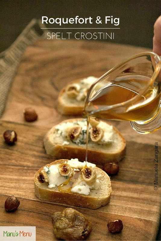 Roquefort and Fig Spelt Crostini