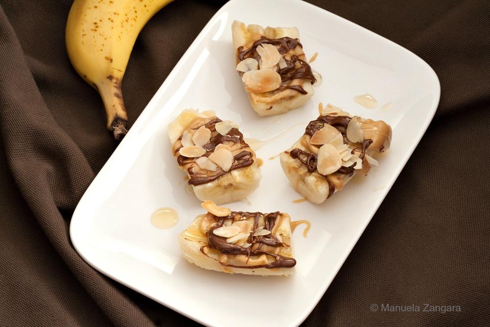 Peanut Butter Nutella Banana Bites