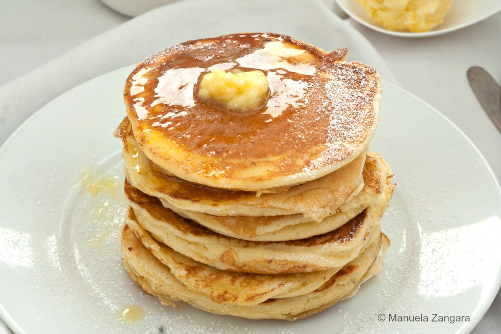 Ricotta Pancakes with Honey Butter