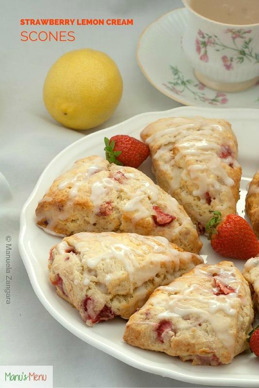 Strawberry Lemon Cream Scones