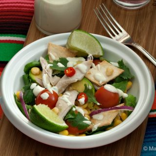 Deconstructed Chicken Taco Salad