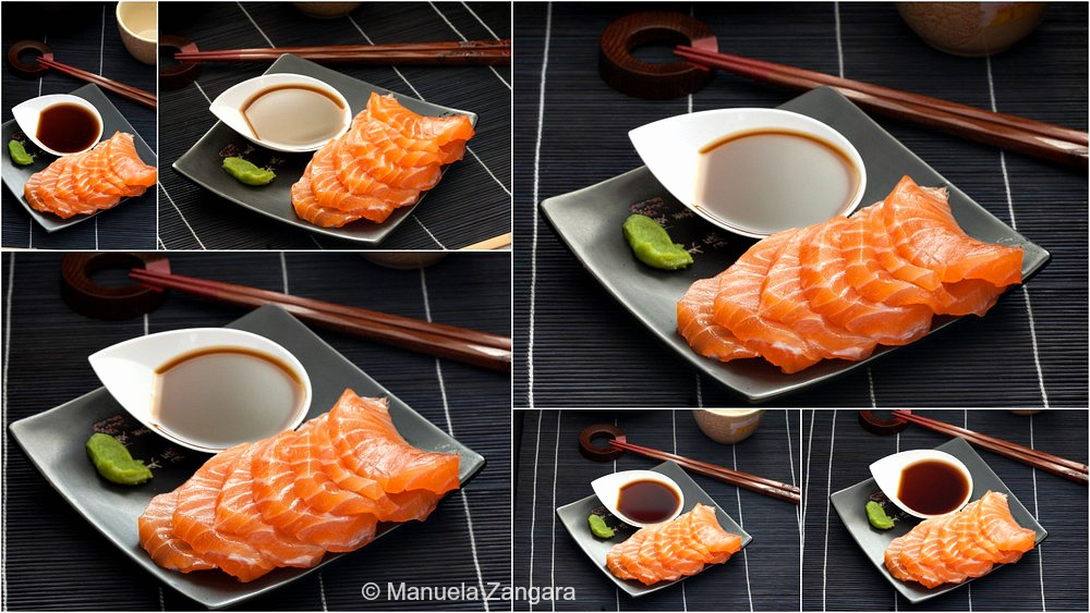 Salmon Sashimi with Ponzu