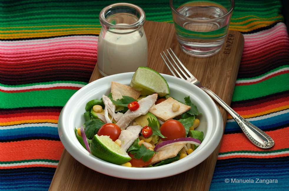 Deconstructed Chicken Taco Salad