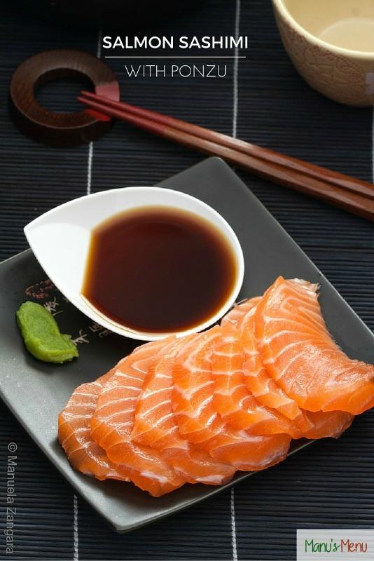 Salmon Sashimi With Ponzu