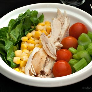 Shredded Chicken Salad with Ranch Dressing