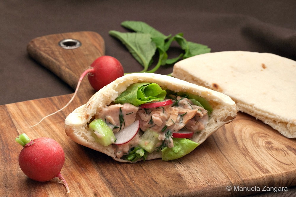 Tuna Dill Salad Pita Pockets