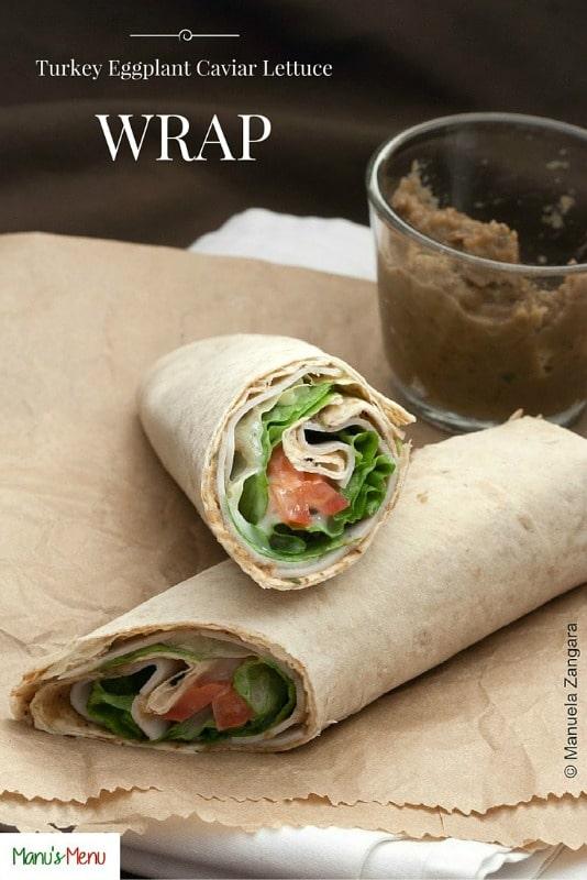 Turkey Eggplant Caviar Lettuce Wrap