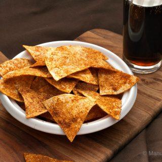 Home-made Doritos