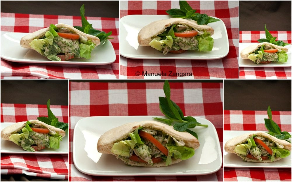 Mint Chicken Pita Pockets