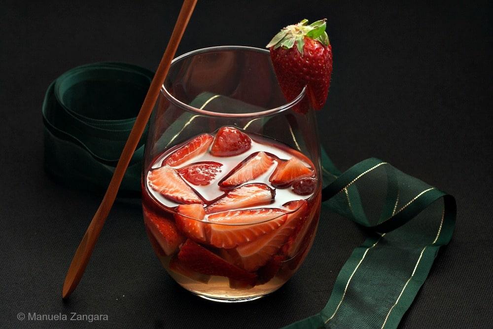Strawberries in White Wine