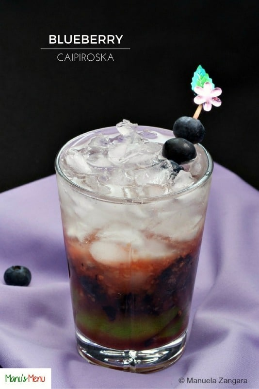 Blueberry Caipiroska