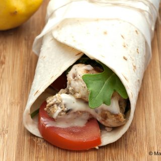 Lemon Chicken Wrap with Aioli