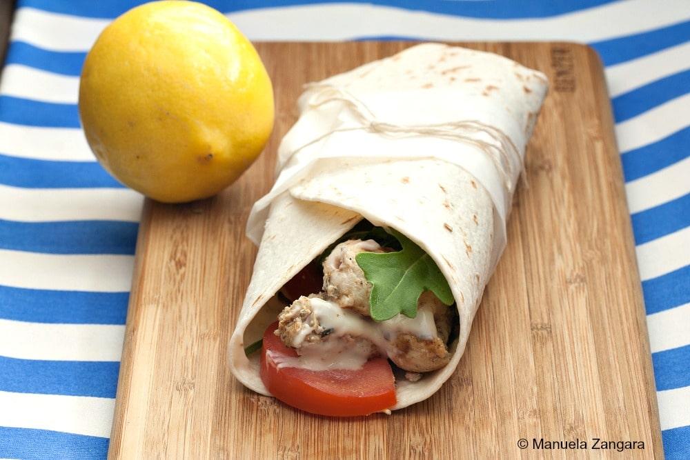 Lemon Chicken Wrap with Aioli