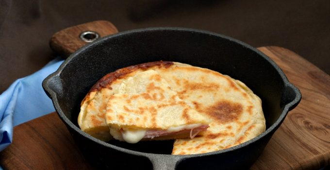 Ham and Cheese Skillet Focaccia